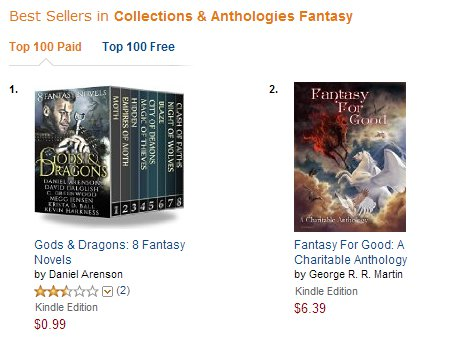 Fantasy For Good Amazon Australia Fantasy Anthology chart, December 11th